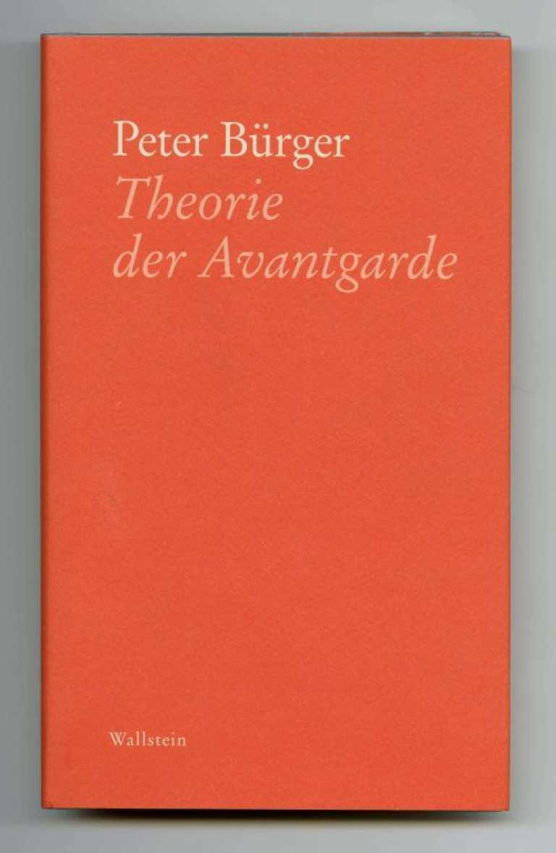 Bürger_TheorieAvantgarde