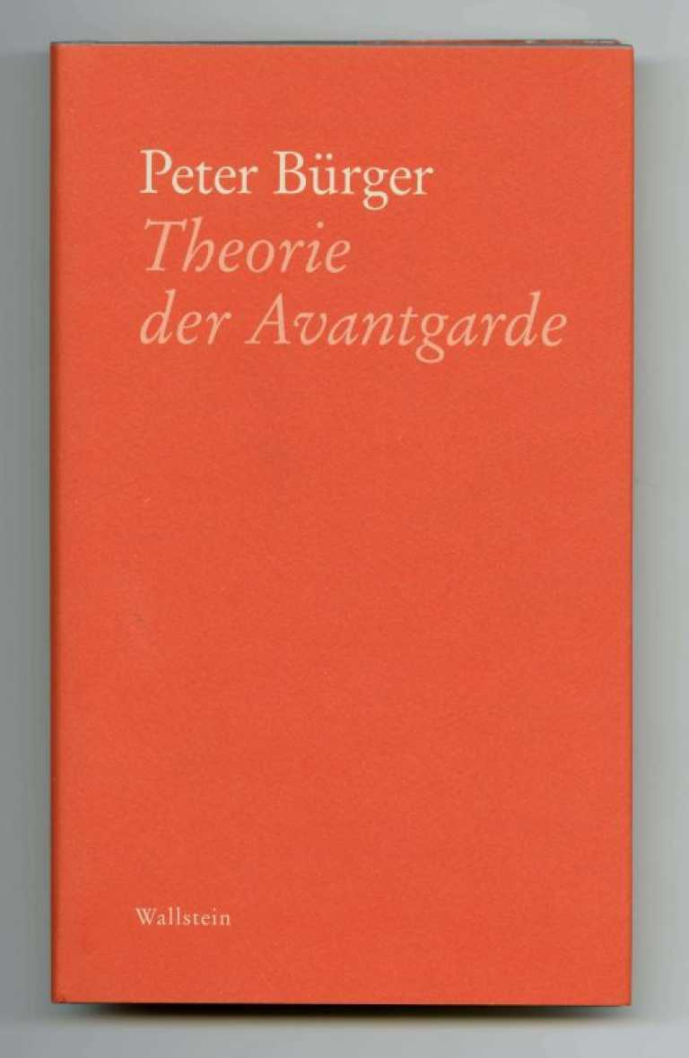 Bürger_TheorieAvantgarde